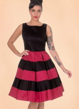 50s Anna Dress in Black and Red