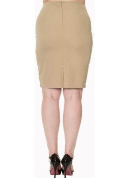 Banned Guiding Light Pencil Rok Beige