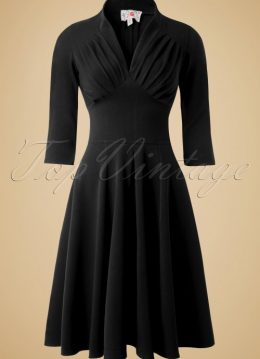 50s Vedette Swing Dress in Black