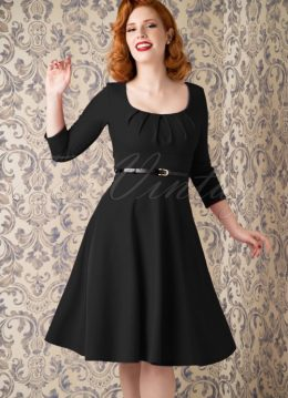50s Marcella Swing Dress in Black