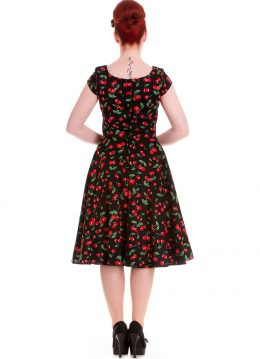Hell Bunny Cherry Pop 50's Swing Jurk Zwart