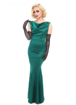 Collectif Ingrid 30's Fishtail Jurk Groen