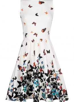Lady V Sweet White Butterfly Tea Dress