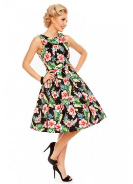 Dolly&Dotty Annie Hibiscus 50's Swing Jurk