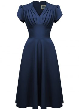 Pretty Retro Classic 50's Swing Jurk Navy
