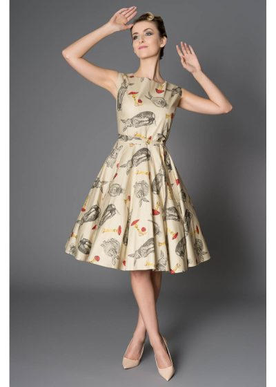 Victory Parade Rosa Bunnies 50's Swing jurk